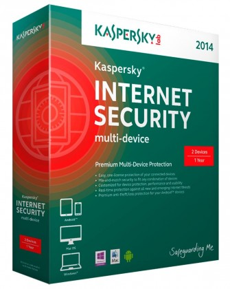 Antivirové programy Kaspersky Internet Security Multi-Device 2014 CZ, 1 PC 1 rok-Box