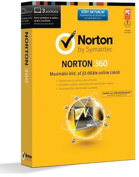 Antivirové programy NORTON 360 2014 CZ 3 PC 12 MĚSÍCŮ WIN BOX