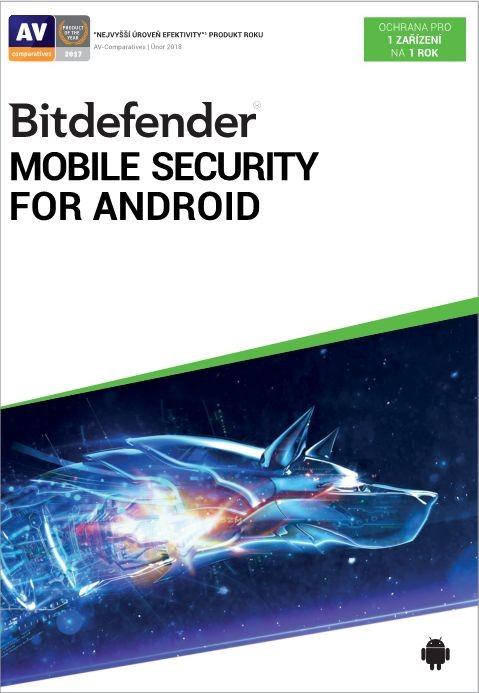 Antivirový program Antivir Bitdefender pro telefony a tablety s Android, roční lic.