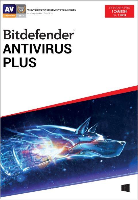 Antivirový program Bitdefender Antivirus Plus, 1 zařízení, 1 rok