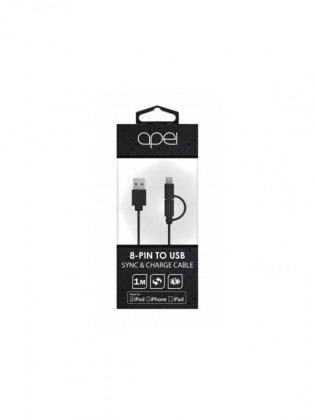 Apei MFI 2 in 1 Lightning and MicroUSB cable (black) - 1m