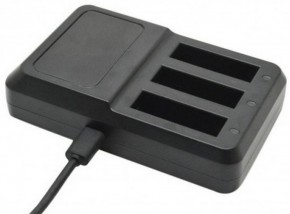 Apei Outdoor USB 3x Battery Charger for GoPro 4