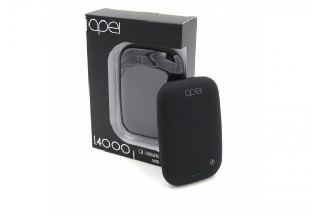 Apei Qi L4000 Powerbank (Black) - External Wireless Powerbank
