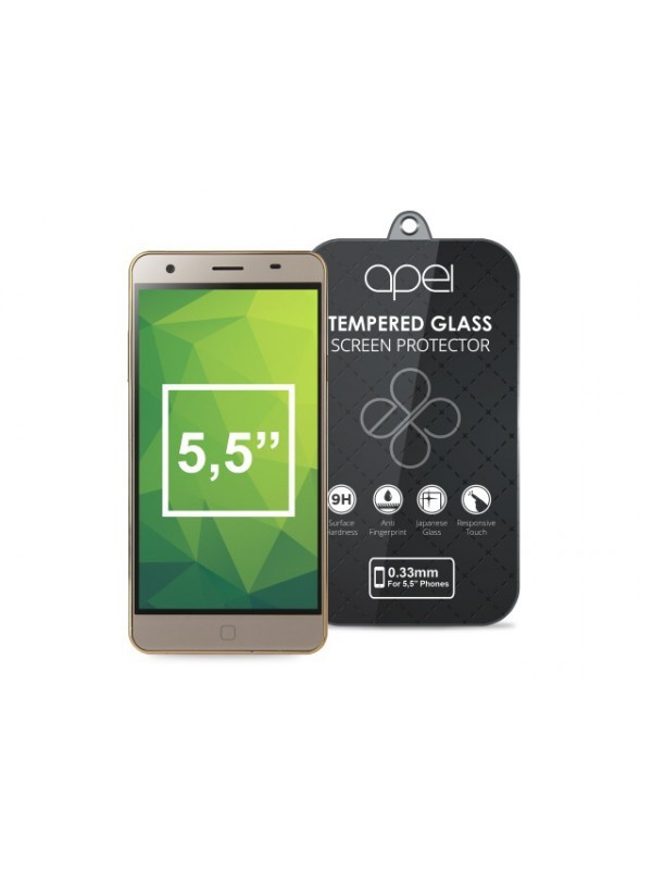 Apei Slim Round Glass Protector for  5,5'' Phones (0.3mm)