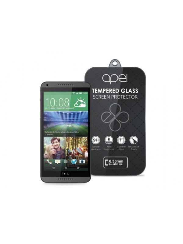 Apei Slim Round Glass Protector for HTC 816 (0.3mm)