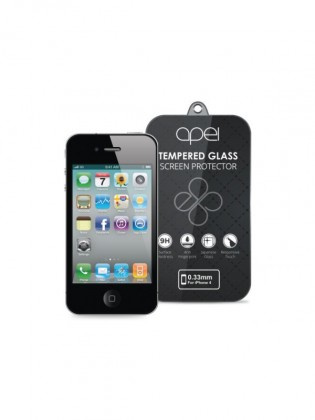 Apei Slim Round Glass Protector for iPhone 4 (0.3mm)