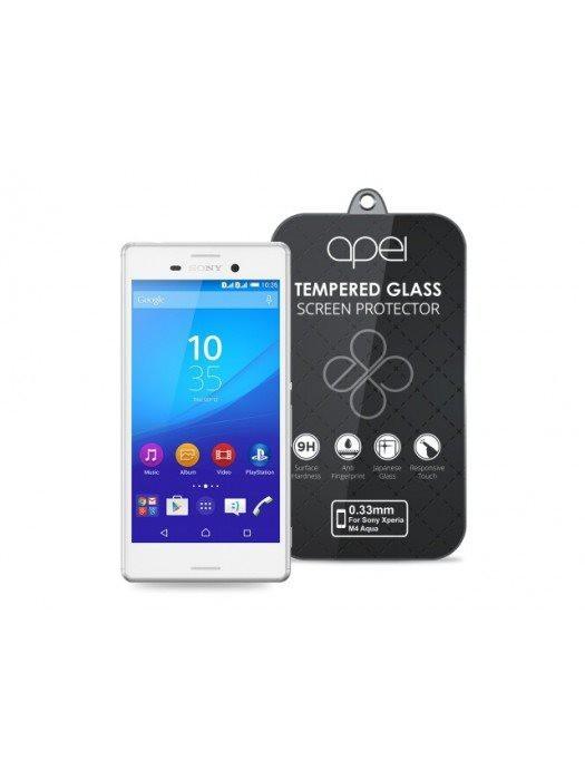 Apei Slim Round Glass Protector for Sony M4 Aqua (0.3mm)