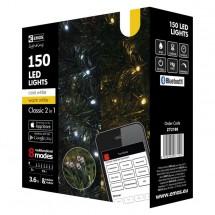 Aplikací ovládaný LED vánoční řetěz, 15m, venkovní, st./t.b.