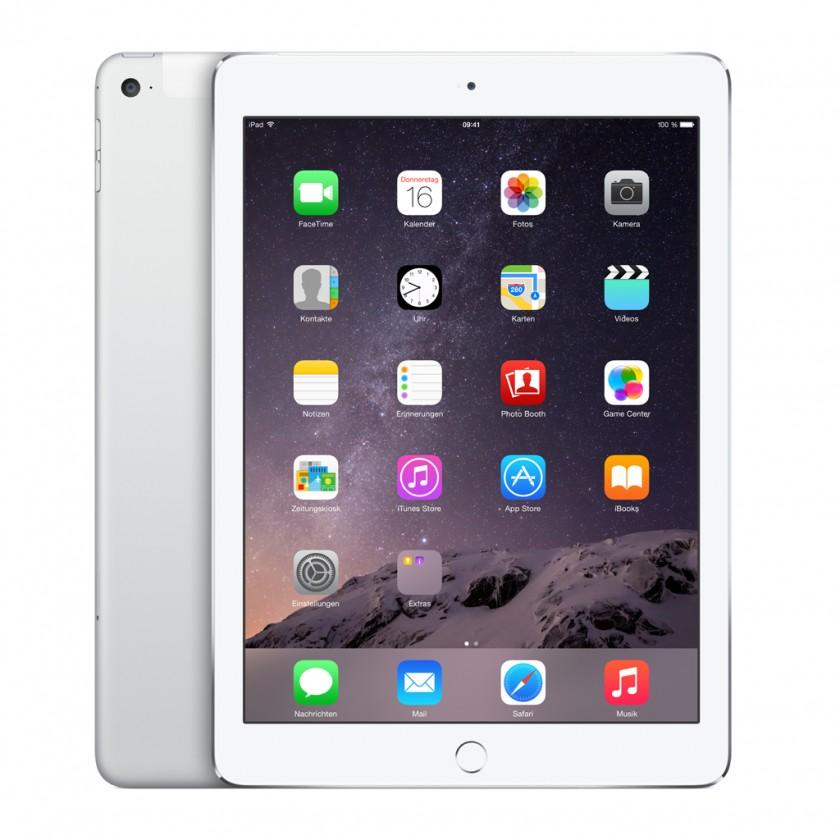 APPLE iPad Air 2, 128GB, Wi-Fi, Cellular, stříbrná - MGWM2FD/A