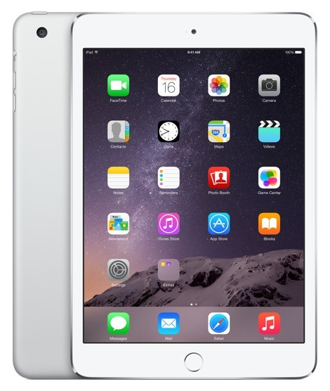 Apple iPad mini 3, 64 GB, Wi-Fi + LTE, stříbrný