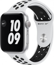 Apple Watch Nike S6 GPS, 44mm, stříbrná
