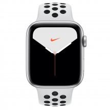 Apple Watch Nike Series 5 GPS, 44mm, stříbrná, sportovní řemínek