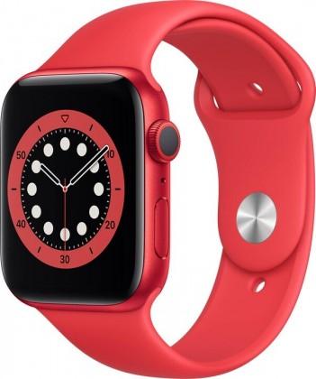 Apple Watch S6 GPS, 44mm, červená