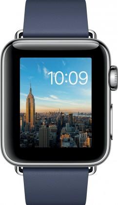 Apple Watch Series 2, 38mm pouzdro z nerez. oc+ půlnoč.modrá,L