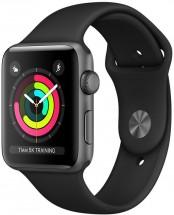 Apple Watch Series 3 GPS, 38mm, šedá, sportovní řemínek