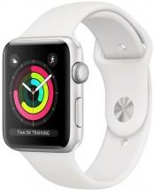 Apple Watch Series 3 GPS, 38mm, stříbrná, sportovní řemínek