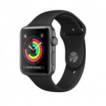 Apple Watch Series 3 GPS, 42mm, šedá, sportovní řemínek POUŽITÉ,