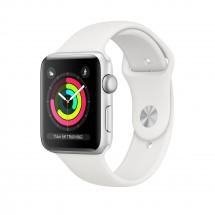 Apple Watch Series 3 GPS, 42mm, stříbrná, sportovní řemínek