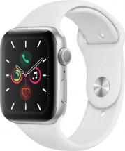 Apple Watch Series 5 GPS, 44mm, stříbrná, sportovní řemínek