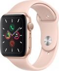 Apple Watch Series 5 GPS, 44mm, zlatá, sportovní řemínek