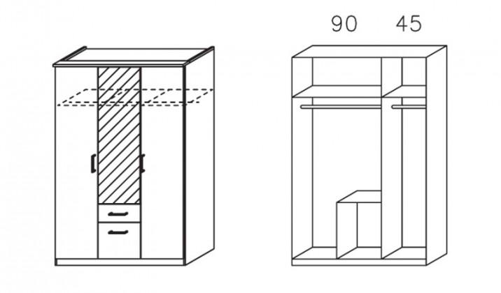 Apulien - s křídlovými dveřmi, 3x dveře