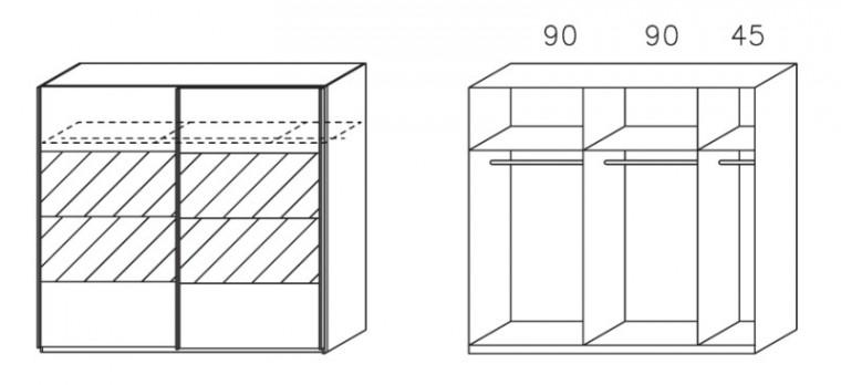 Apulien - s posuvnými dveřmi, 2x dveře