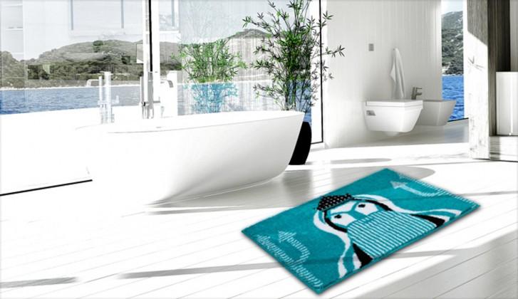Aquarius - Koupelnová předložka 60x90 cm (aqua)