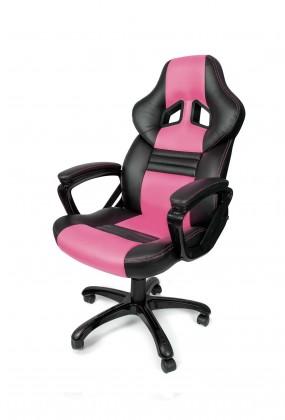 AROZZI herní židle MONZA/ černorůžová