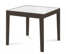 Asso 90 - Jídelní stůl (extra bílá, wenge) - II. jakost