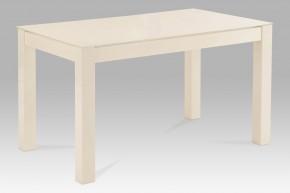 AT - Jídelní stůl (vanilkové sklo/vysoký lesk vanilka)
