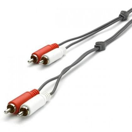 Audio kabely, repro kabely + konektory Audio kabel Vivanco V30185, 2x2 cinch, 1,5m