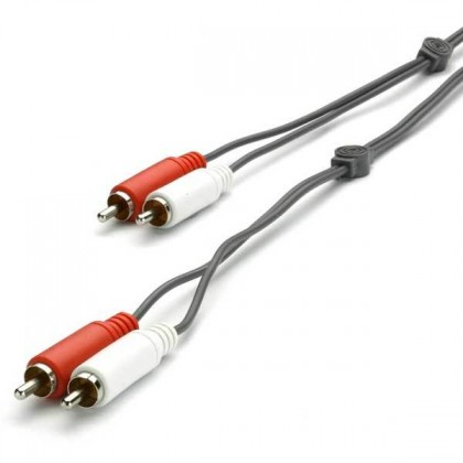 Audio kabely, repro kabely + konektory Audio kabel Vivanco V30187, 2x2 cinch, 5m