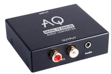 Audio kabely, repro kabely + konektory Konvertor digitální/analogové audio Acoustique Quality AC01DA
