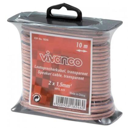 Audio kabely, repro kabely + konektory Reproduktorový kabel Vivanco 18246 10m, 1,5mm