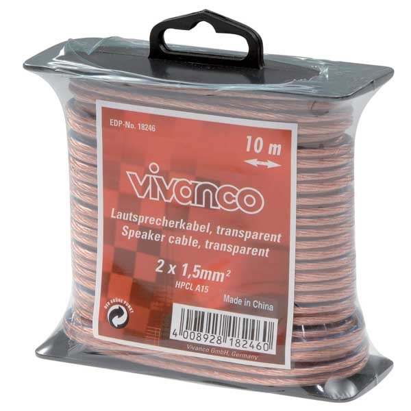 Audio kabely, repro kabely + konektory Reprokabel Vivanco 18246, 1,5mm, 10m