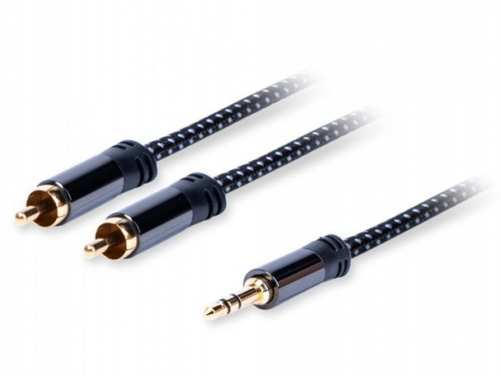 Audio kabely, repro kabely + konektory Stereo audio kabel AQ 6OKJR030, jack/2xRCA, 3m