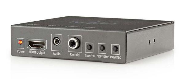 Audio ZLEVNĚNO NEDIS přepínač/SCART + HDMI vstup - HDMI výstup/Full HD