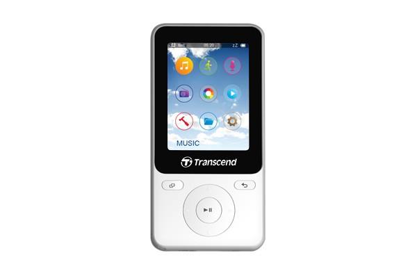 Audio ZLEVNĚNO Transcend MP710 8 GB, bílá POUŽITÉ, NEOPOTŘEBENÉ ZBOŽÍ