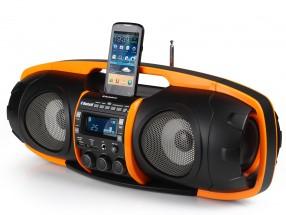 Audiosonic RD-1549, černá/oranžová POUŽITÉ, NEOPOTŘEBENÉ ZBOŽÍ