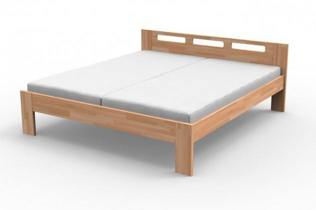 Augusta - Rám postele 200x180, matrace (masiv buk, přírodní lak)