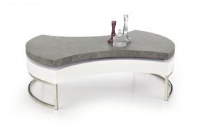 Aurea 2 - Konferenční stolek (bílá, beton, chrom.nohy)