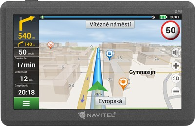 """Auto navigace GPS Navigace Navitel E200 5"""", Truck, speedcam, 15 zemí, LM"""