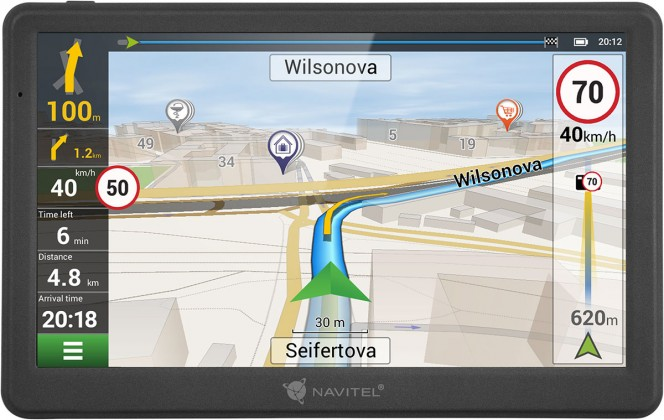 """Auto navigace GPS Navigace Navitel MS700 7"""", Truck, speedcam, 47 zemí, LM"""
