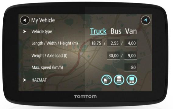 Auto navigace TomTom GO Professional 520 EU, Lifetime (1PN5.002.07) černá
