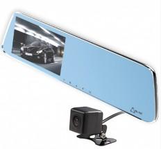 Autokamera Cel-Tec M6 DUAL, zrcátko + zadní kamera