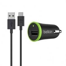 Autonabíječka Belkin s kabelem USB Typ C, černá