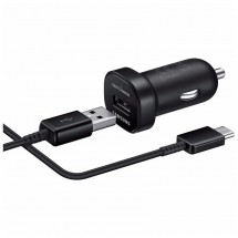 Autonabíječka Samsung 1xUSB + kabel USB Typ C, černá