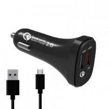 Autonabíječka WG 2xUSB +kabel Micro USB, 4,8A, s rychlonabíjením
