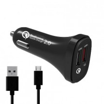 Autonabíječka WG 2xUSB + kabel Micro USB, černá