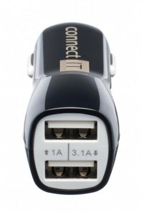 Autonabíječky (12V) Connect IT PREMIUM auto adaptér 2xUSB 3.1A a 1A